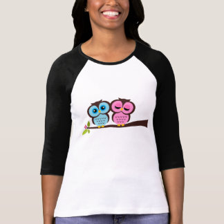 Búhos preciosos camiseta