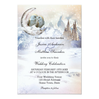 Búhos sobre la invitación del boda del invierno de