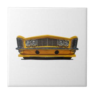 Buick amarillo azulejo cuadrado pequeño