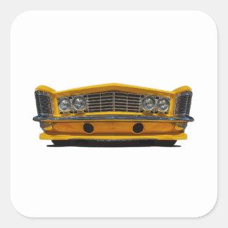 Buick amarillo pegatina cuadrada