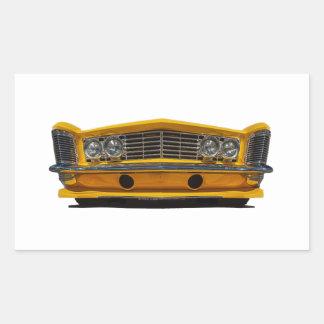 Buick amarillo pegatina rectangular