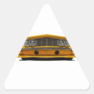 Buick amarillo pegatina triangular