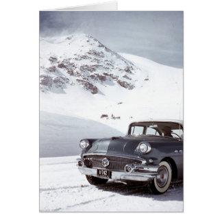 Buick y montaña de Colorado Tarjeta De Felicitación