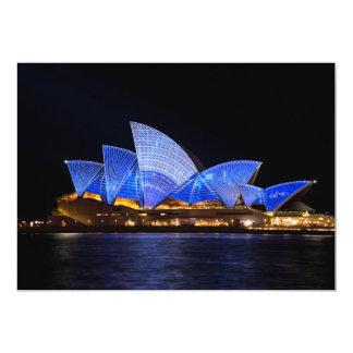 buildi de Australia del teatro de la ópera de Invitación 12,7 X 17,8 Cm