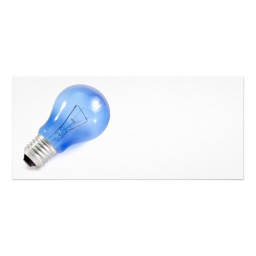 Bulbo azul diseño de tarjeta publicitaria
