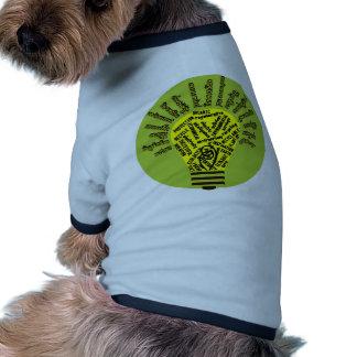 Bulbo con términos ecológicos camiseta de perro