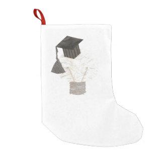 Bulbo del graduado ninguna media del fondo calcetín navideño pequeño