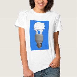 Bulbo fluorescente compacto camisetas