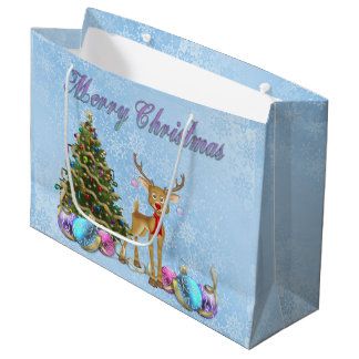 Bulbos del navidad del árbol de navidad del reno bolsa de regalo grande