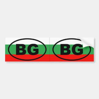 Bulgaria - BG - óvalo europeo Pegatina Para Coche