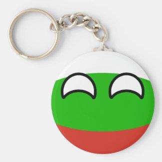 Bulgaria Geeky que tiende divertida Countryball Llavero