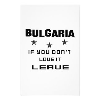 Bulgaria si usted no la ama, se va papeleria de diseño