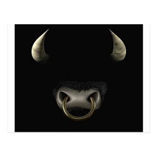 Bull hace frente (lleno) postal
