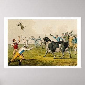 Bull que hostiga pub por Thomas McLean 1820 Posters