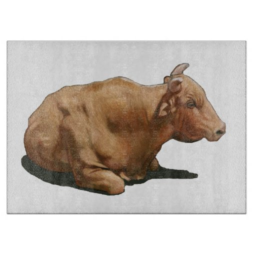 Bull que se acuesta: Dibujo de lápiz del color Tablas De Cortar
