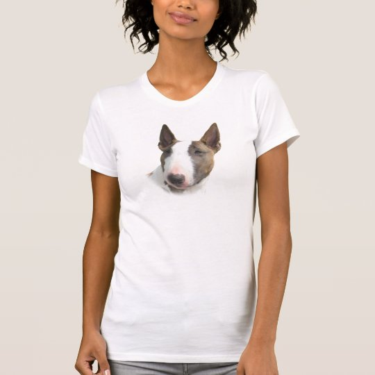 Bull Terrier painted girl Camiseta