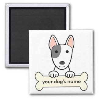 Bull terrier personalizado imán de frigorífico