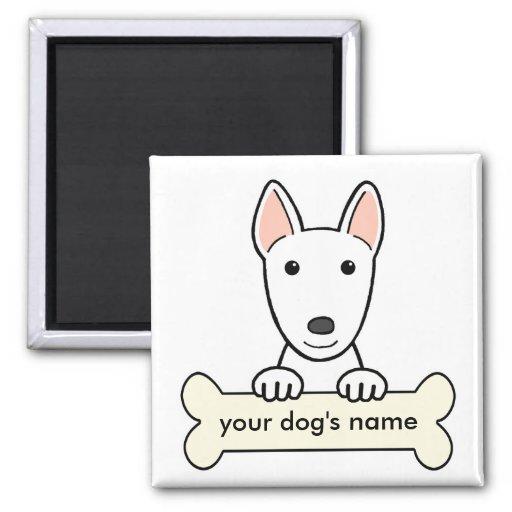 Bull terrier personalizado imanes para frigoríficos