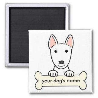 Bull terrier personalizado imán cuadrado