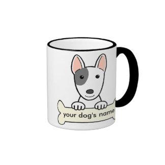 Bull terrier personalizado tazas