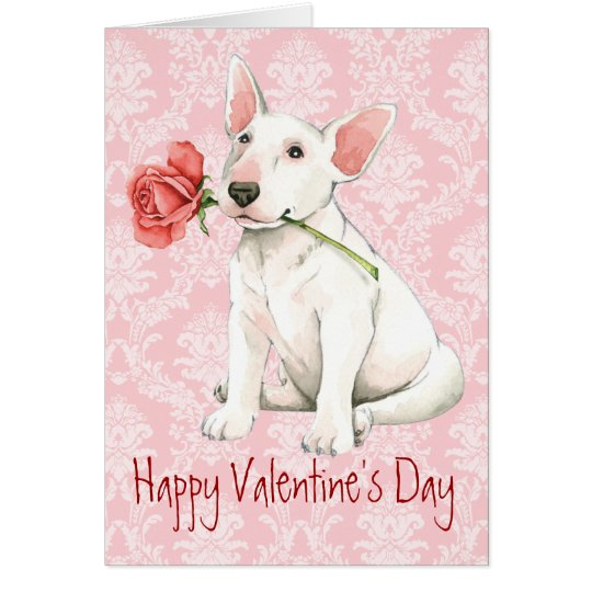 Bull terrier subió tarjeta del día de San Valentín