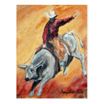Bull y postal del jinete