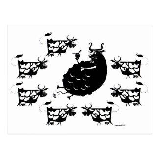 Bull y vacas postal