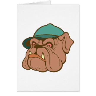 Bulldog bulldog gorro cap tarjeta