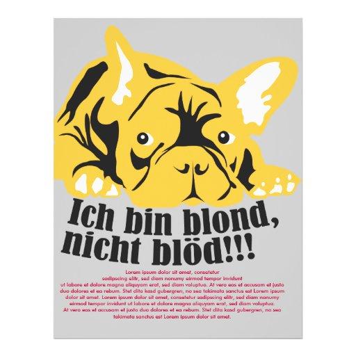Bulldog francés: Rubio! Tarjetones