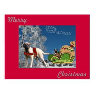 Bulldog francés tarjeta postal Feliz Navidad