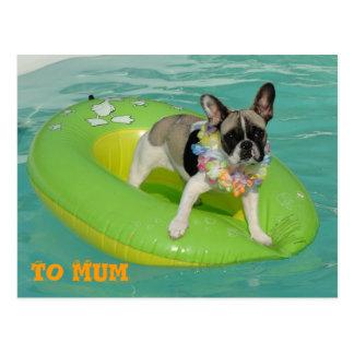 "Bulldog francés tarjeta postal ""To Mum"