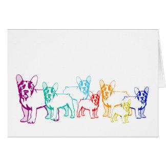 Bulldoges franceses regalos tarjeta de felicitación