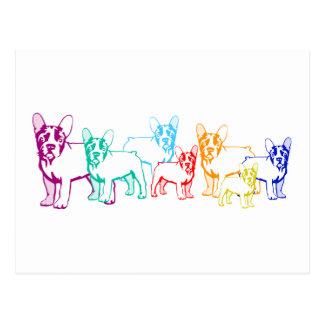 Bulldoges franceses regalos postal