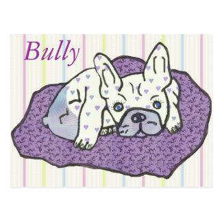 Bulldoges franceses tarjeta postal