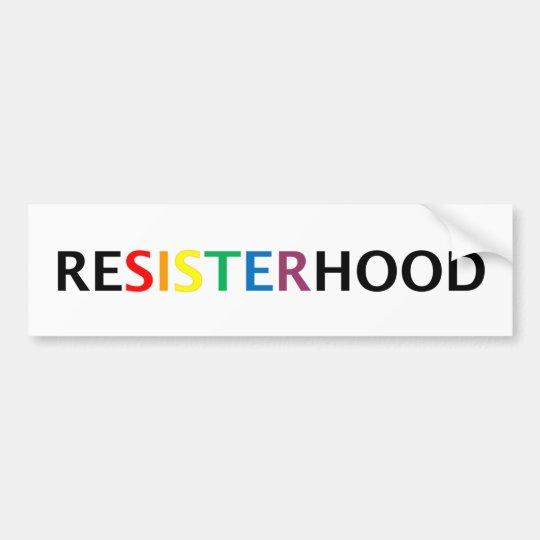 Bumpersticker de Resisterhood Pegatina Para Coche
