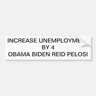 bumpersticker del desempleo etiqueta de parachoque