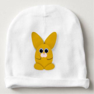 Bunn amarillo en el gorra blanco del bebé gorrito para bebe