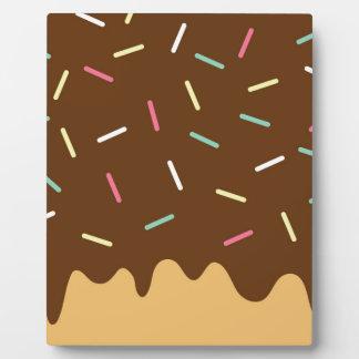 Buñuelo del chocolate placa expositora