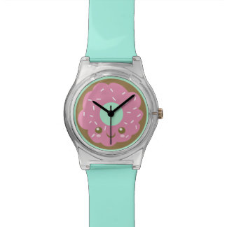 Buñuelo rosado lindo relojes de mano