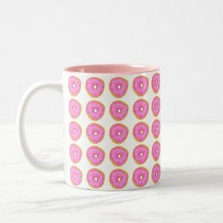 Buñuelo rosado taza bicolor