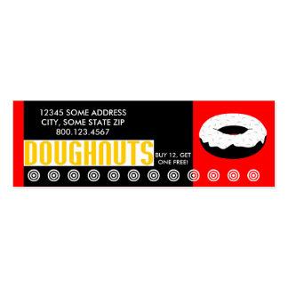 buñuelos (pequeña charla) tarjetas de visita mini