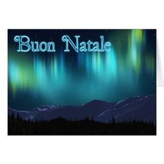 Buon Natale - aurora Borealis Tarjeta De Felicitación