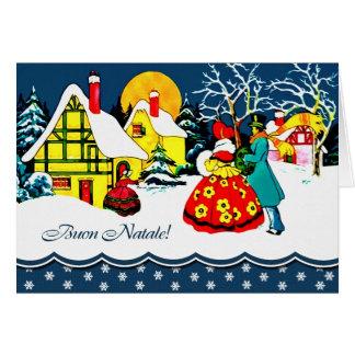 Buon Natale. Tarjeta de felicitación del navidad