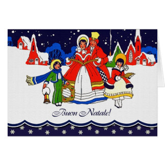 Buon Natale. Tarjeta de felicitación del navidad d
