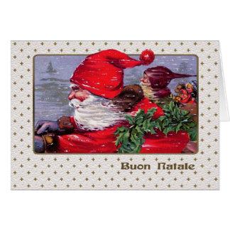 Buon Natale. Tarjeta de Navidad adaptable italiana