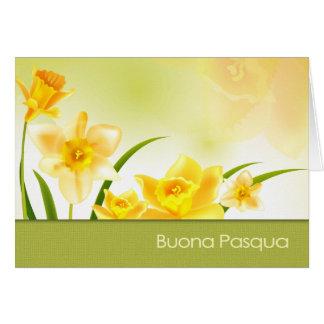 Buona Pasqua. Tarjeta de felicitación de Pascua
