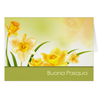 Buona Pasqua. Tarjeta de felicitación de Pascua de