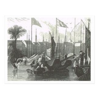 Buques orientales en 1800s del puerto postal
