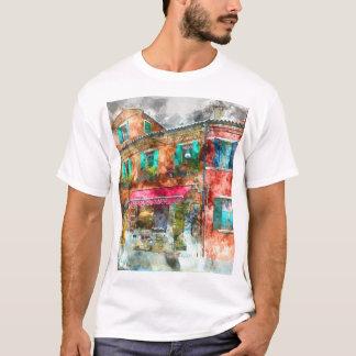 Burano romántico Italia Venecia enar Italia Camiseta