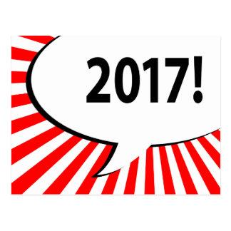burbuja cómica 2017 postal